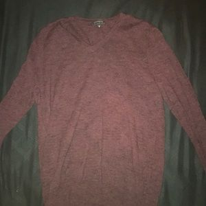 Express wool long sleeve v neck shift